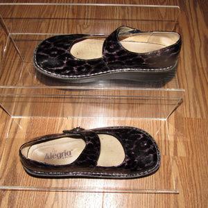 ALEGRIA  Paloma Tortoise Leather Mary Jane Shoes 7